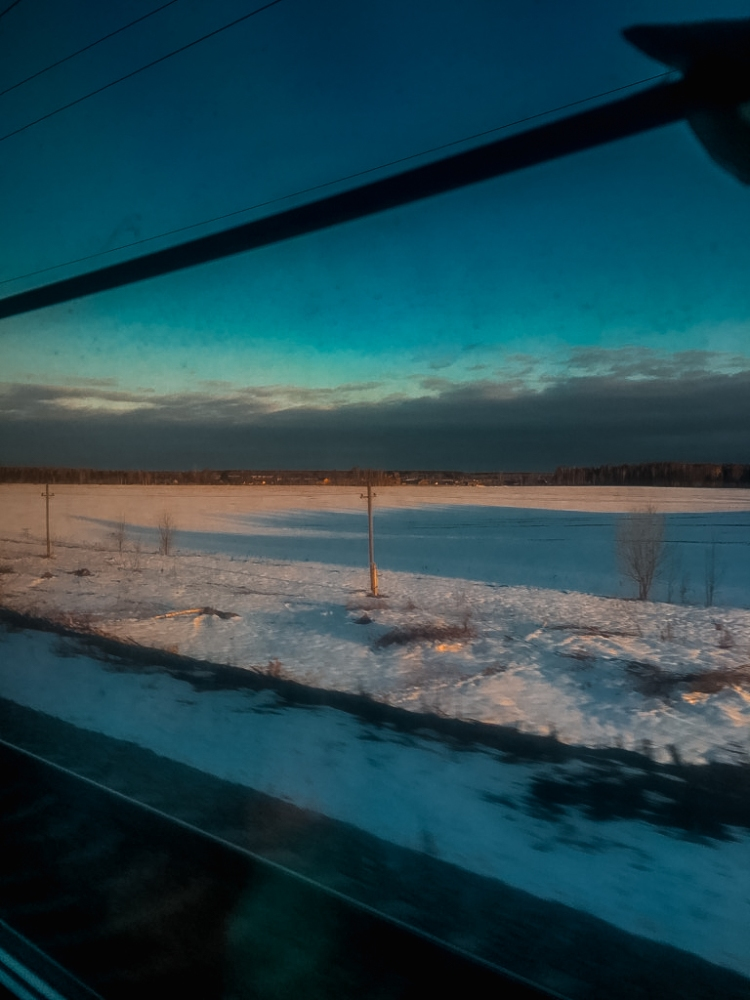 Beautiful landscapes on the way to Irkutsk