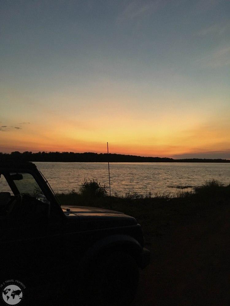 Sunset boat ramp