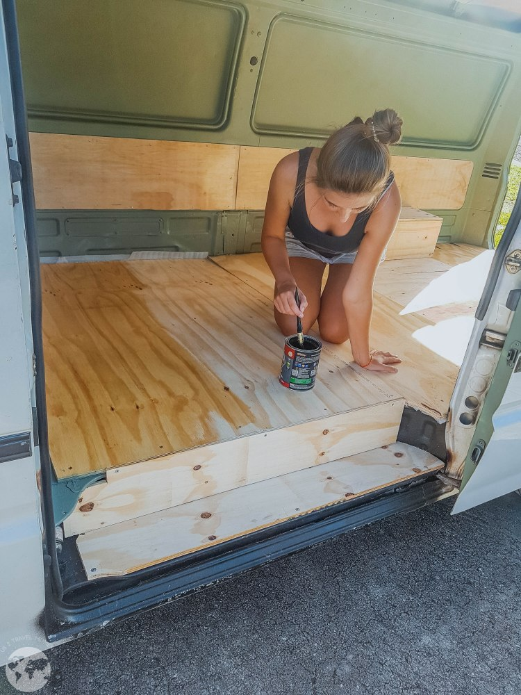 Painting the van